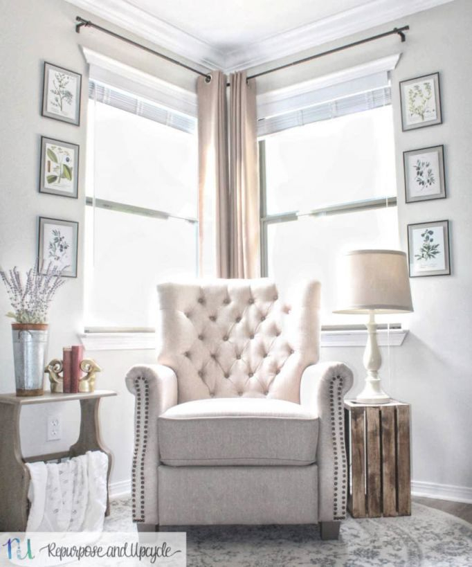 Transforming A Room With Corner Curtains And A Corner pertaining to Best of Curtains For Living Room With Brown Furniture