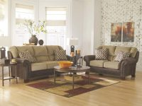 Transitional Living Room Couch Set – Two Tone Brown Chenille Sofa Loveseat Ig2U pertaining to Transitional Living Room Furniture