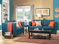 Turquoise Blue Sofa intended for Elegant Turquoise Living Room Furniture