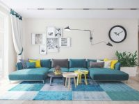 Turquoise Sofa – A Bright Element In The Interior Of The Living Room in Elegant Teal Living Room Furniture