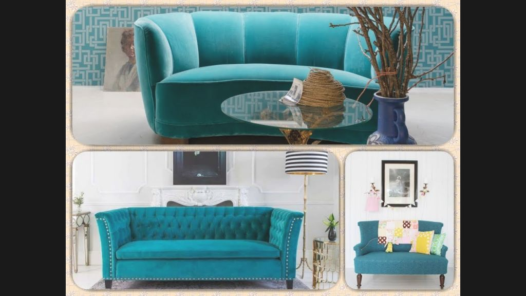 Turquoise Sofa In Interior. Finesse And Elegance Of Color. within Turquoise Living Room Furniture