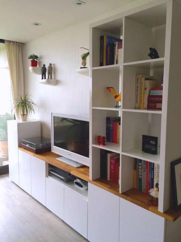 Tv Unit From Ikea Metod Kitchen Cabinets | Ikea Metod inside Ikea Wall Cabinets Living Room