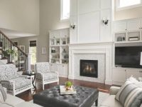 Two Story Woodbury Living Room Fireplace Design | Ispiri inside Lovely 2 Story Living Room Decorating Ideas