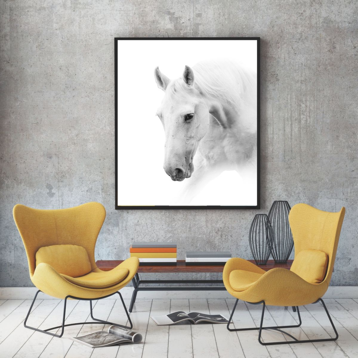 Us 2 09 30 Off Pop Art Poster Black And White Horse Painting Animal Canvas Picture For Living Room Decoration Home Decor Wall Art Quadro In Painting In Horse Living Room Decor Awesome Decors