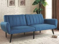 Us $209.99 |Giantex Sofa Futon Bed Sleeper Couch Convertible Mattress Premium Linen Upholstery Sofa Bed Modern Living Room Furniture Hw57253 On intended for Elegant Teal Living Room Furniture