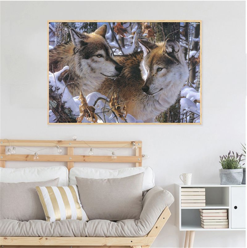 Us $3.59 10% Off|One Piece Poster Wolf Scandinavian Decoration Home Animal Print Living Room Decoration Wolf Posters And Prints Wall Art Picture-In pertaining to Animal Print Living Room Decor