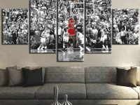 Us $5.99 40% Off|5 Pieces Painting Michael Jordan Basketball Sports Decorative Bedroom Living Room Home Wall Art Decor Artwork Canvas Framed-In throughout Art Decor For Living Room
