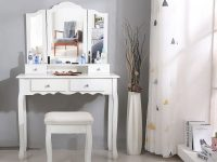 Us $99.56 33% Off|New 90X40X145Cm Dressers For Bedroom Makeup Vanity With 3 Mirrors 4 Drawers Stool Bedroom Sets Dressing Makeup Table Tools Hwc-In with regard to Bedroom Set With Vanity