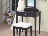 Vanities Contemporary Vanity And Stool With Fabric Seatcoaster At A1 Furniture & Mattress with Bedroom Set Vanity