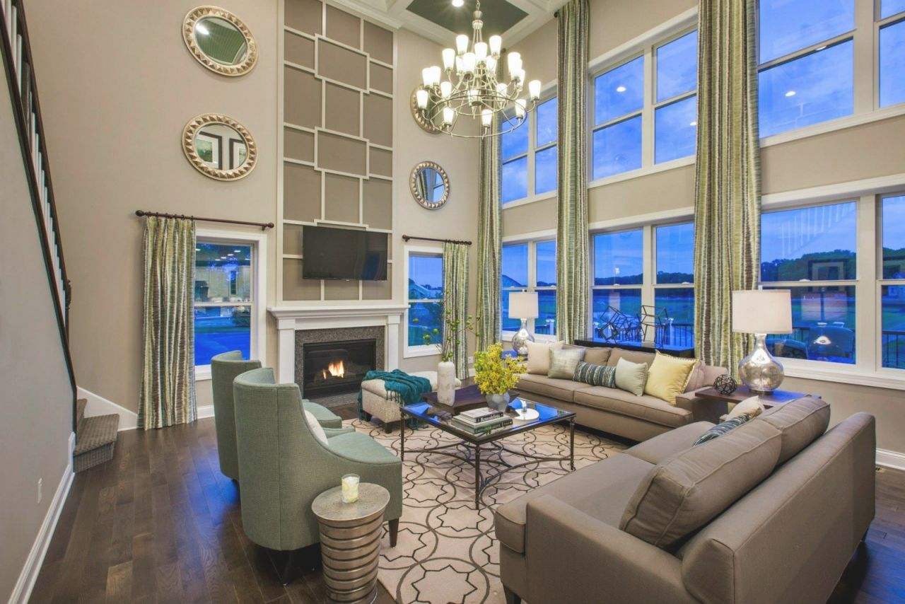 Vertical Interior Design Throughout Lovely 2 Story Living Room Decorating Ideas Awesome Decors