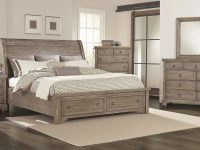 Whiskey Barrel Storage Bedroom Set (Rustic Gray) within Unique Rustic Bedroom Furniture Sets