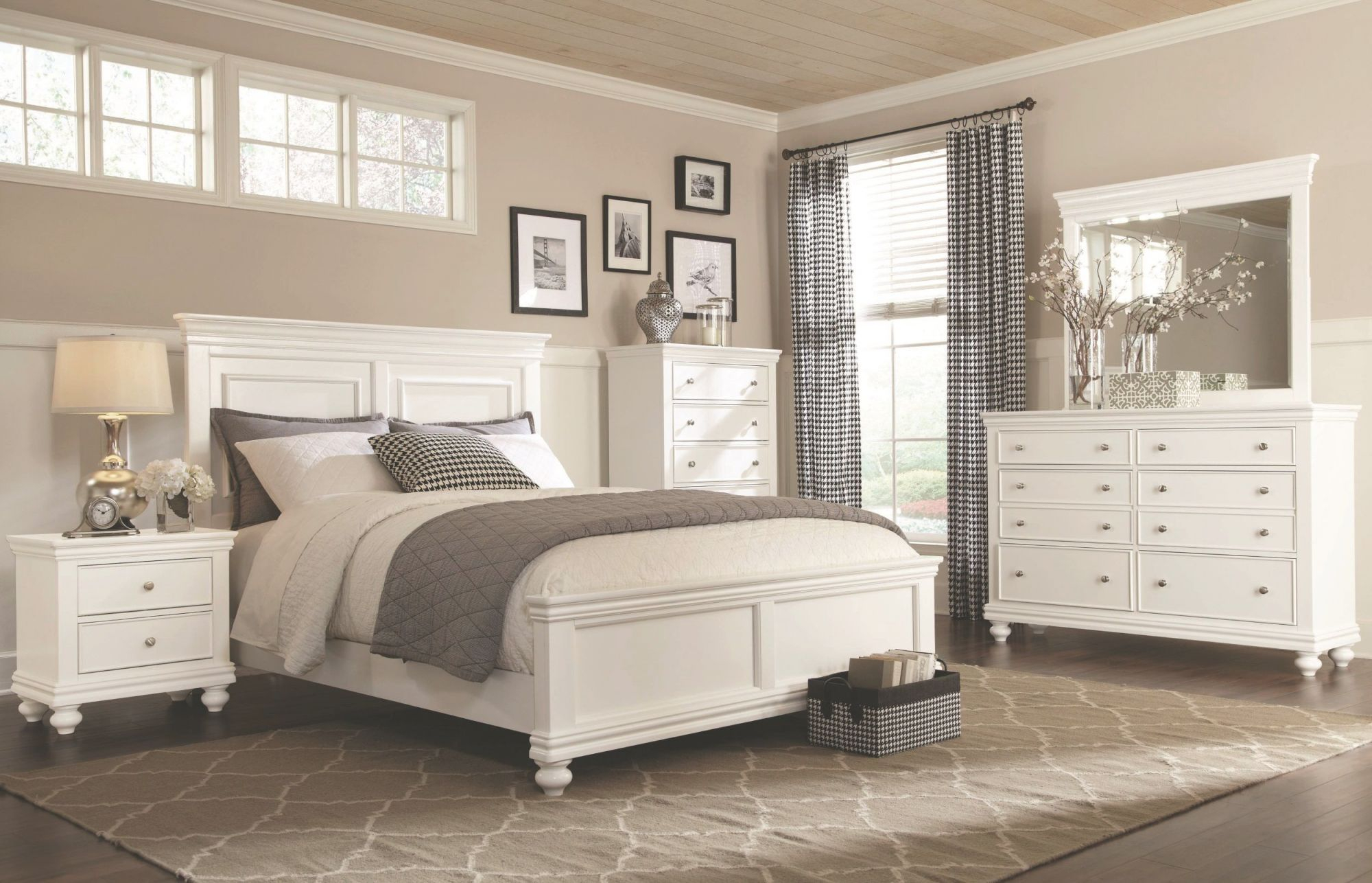 White 4 Piece Queen Bedroom Set - Essex In 2019 | White inside Beautiful Cheap White Bedroom Furniture Sets