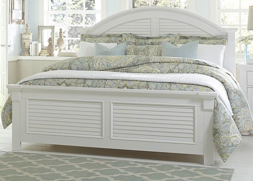 White Bed Coastal Look inside Lovely Coastal Bedroom Furniture Sets