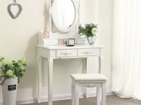 White Vanity Makeup Dressing Table Set With Stool 4 Drawer & Mirror Makeup Desk Bedroom Furniture Dressers Fr Shipping Hwc with regard to Fresh Bedroom Set With Vanity