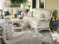 Wicker Lancaster Rattan Framed Natural Wicker Furniture Sets for Elegant Rattan Living Room Furniture