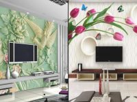 Wow !! Modern And Stylish 3D Wall Decoration In Living Room Display || Wall Stickers For Living Room regarding New Modern Wall Decor For Living Room