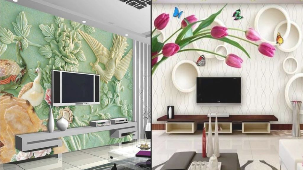 Wow !! Modern And Stylish 3D Wall Decoration In Living Room Display    Wall Stickers For Living Room regarding New Modern Wall Decor For Living Room