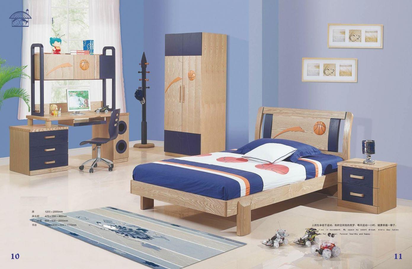 Youth Bedroom Furniture | Kids Bedroom Set (Jkd-20120 with Lovely Boys Bedroom Furniture Sets