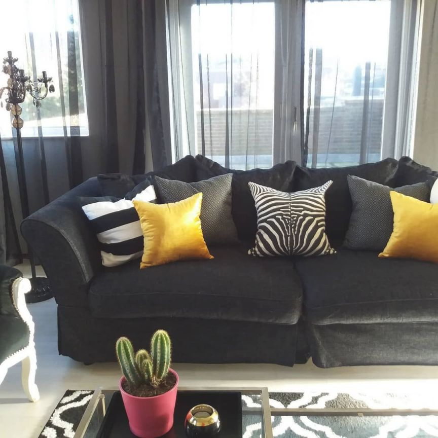 Zebra Print, Mosterd Yellow, Black And White Livingroom with regard to Unique Animal Print Living Room Decor