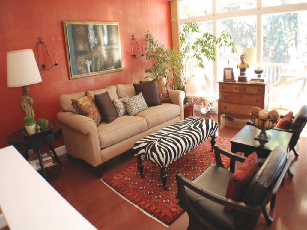 Zebra Print Ottoman, Zebra Print And Red Living Room Decor regarding Animal Print Living Room Decor