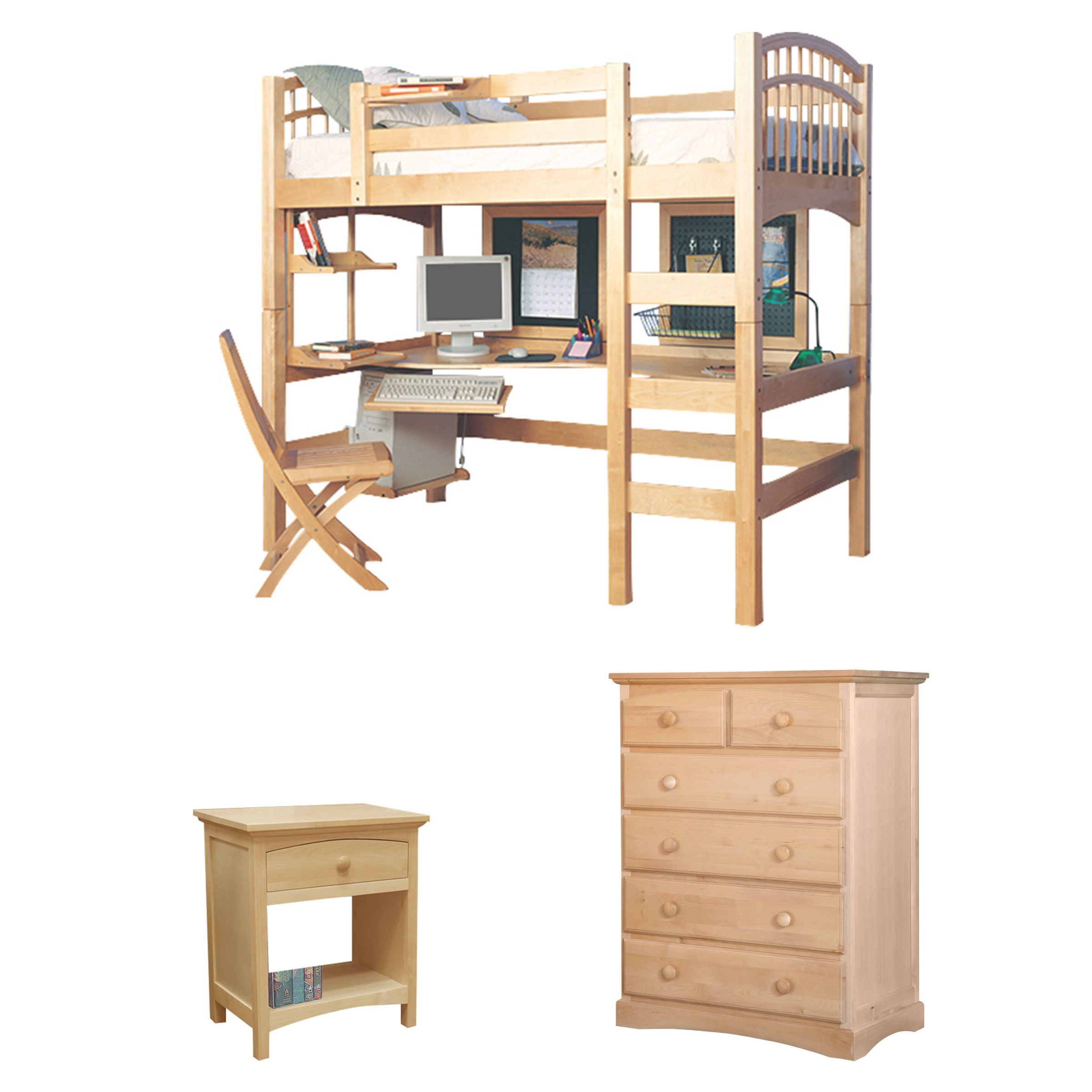 Zoomie Kids Sandisfield Twin Loft Bed Configurable Bedroom regarding Best of Bedroom Set With Desk