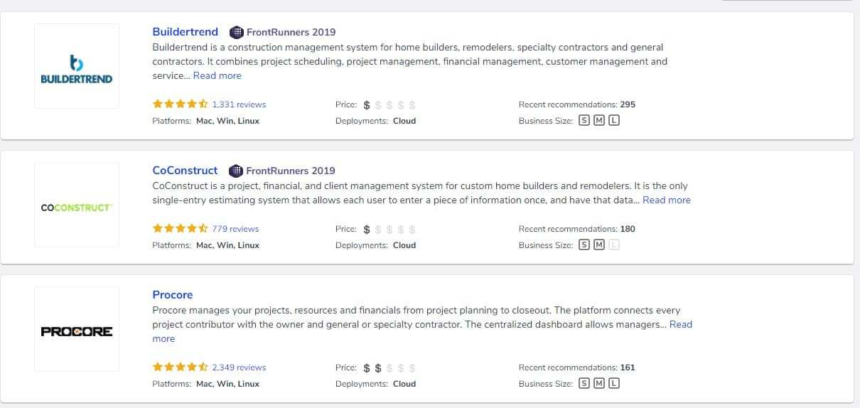 Top 5 Construction Technology Trends in 2020. The cuilding contractors rating in the Internet