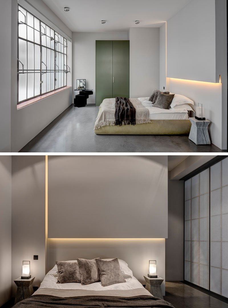 Gray and lighted walls