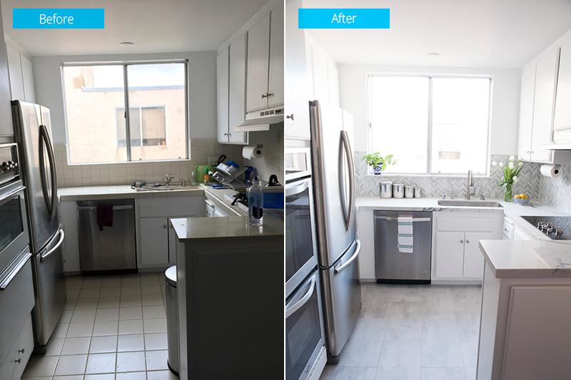 Small Kitchen Remodel in Los Angeles Condo