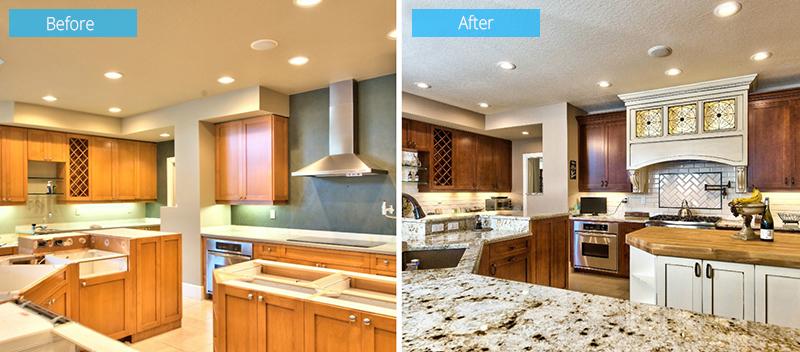 Sterling Oaks Living Room Kitchen