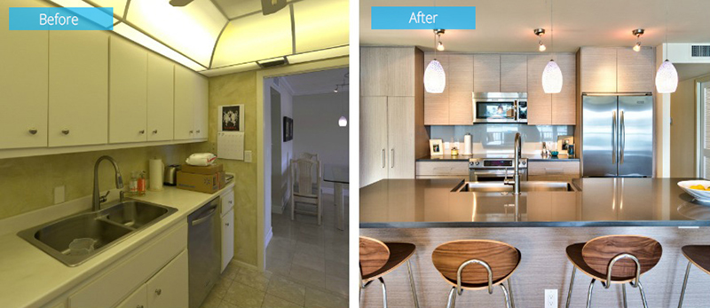 Kitchen Before and After Close Up