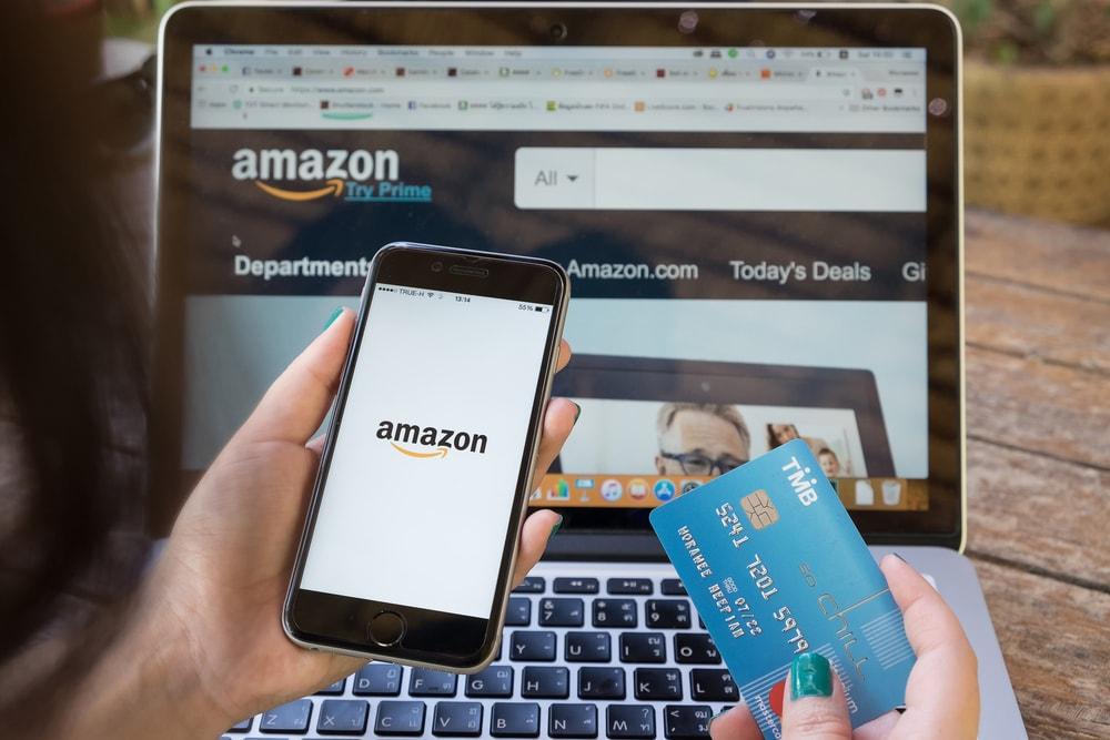 Shopping online through Amazon.
