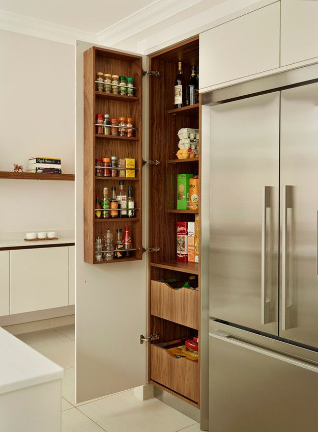 Organizing Kitchen Storage Systems and Pantry for Ultimate Comfort. Door shelf for liquids