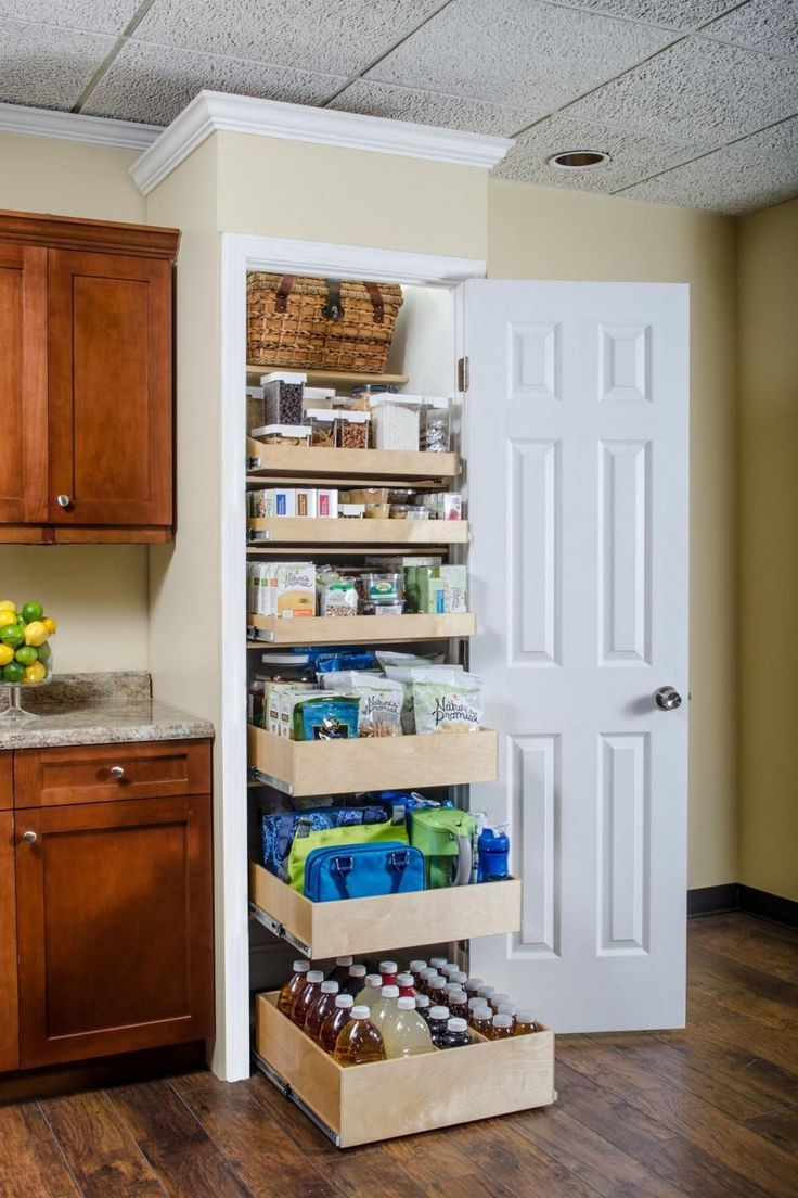Organizing Kitchen Storage Systems and Pantry for Ultimate Comfort. Simple shelving for casual styled space