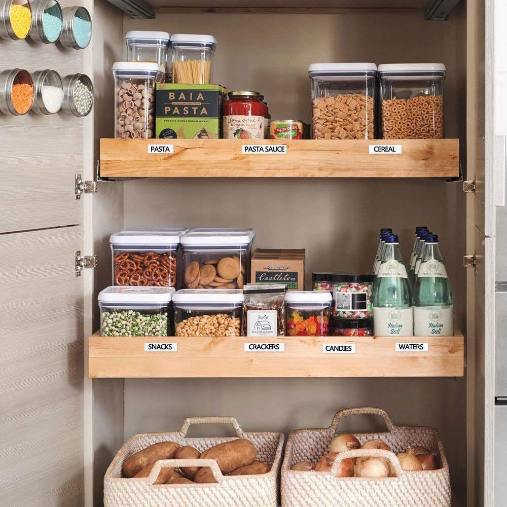 Well-organized pantry for modern designed kitchen