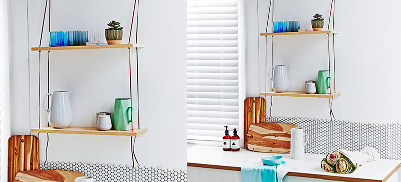 Leather Swing Shelf