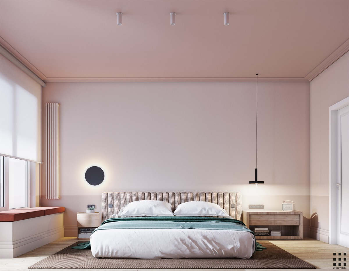 black-white-and-pink-bedroom