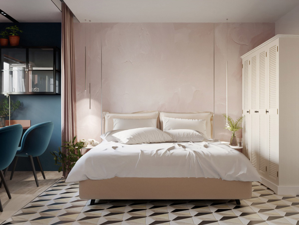 blush-pink-bedroom-feature-wall