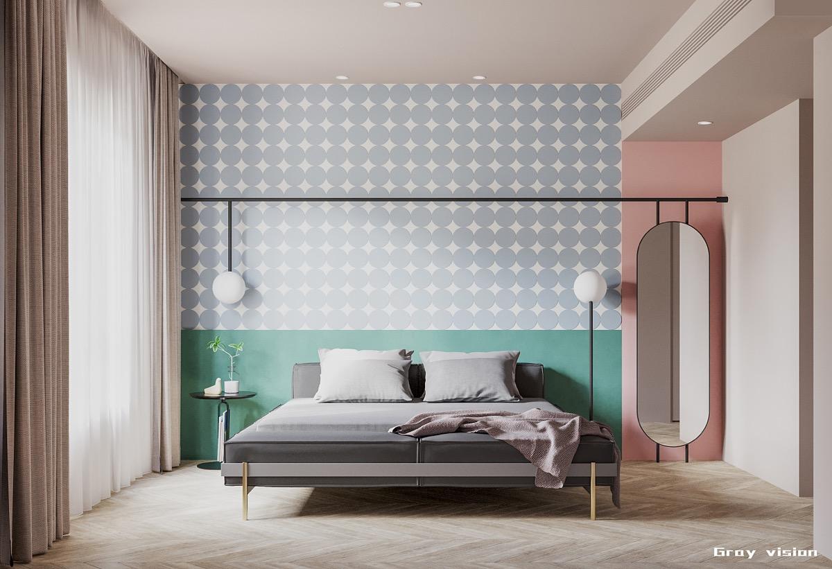 blush-pink-teal-and-grey-bedroom-design