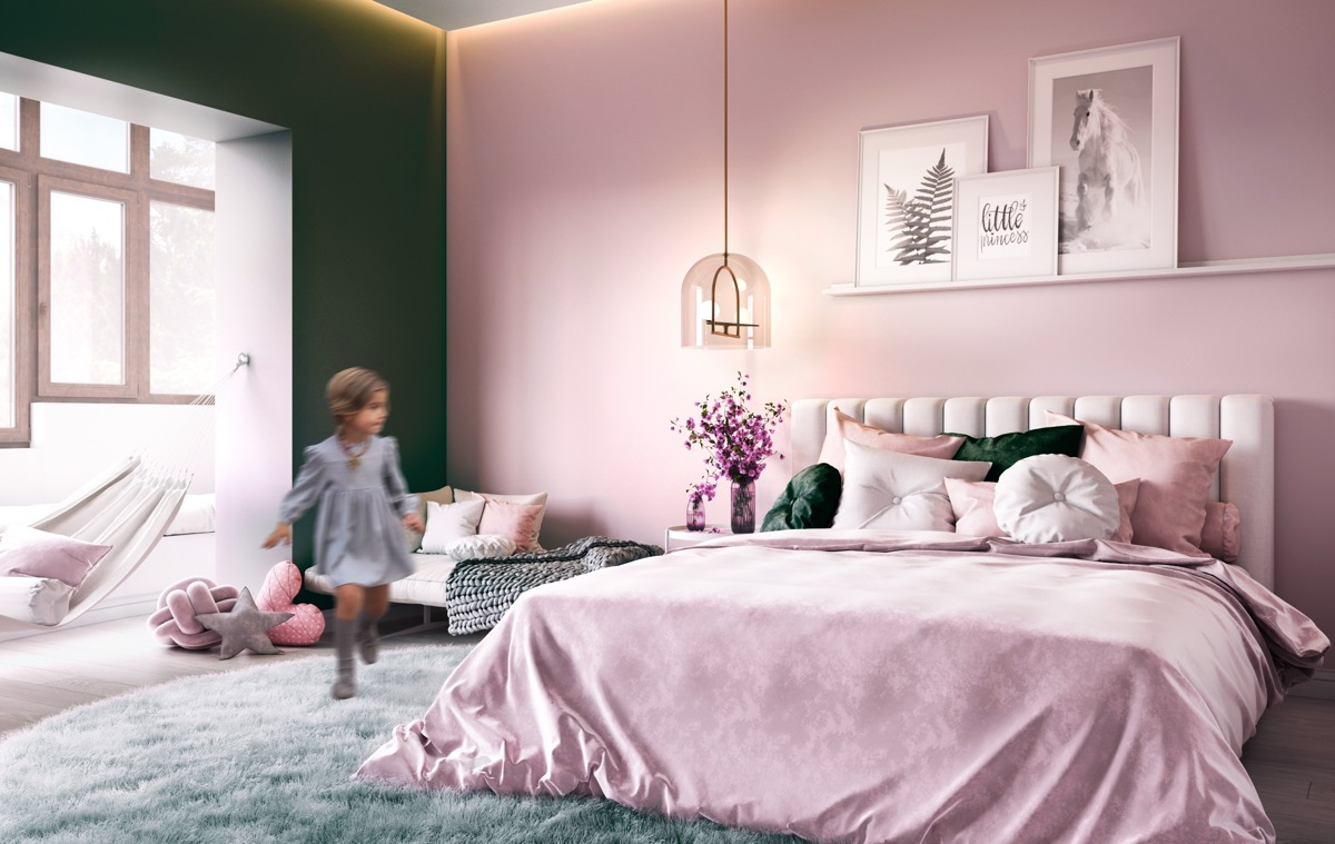 candy-pink-and-green-bedroom