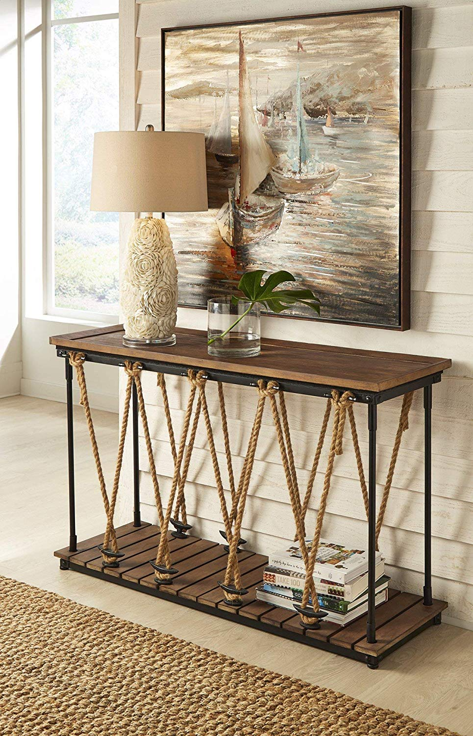coastal-entryway-table-with-jute-rope-and-iron-hitches