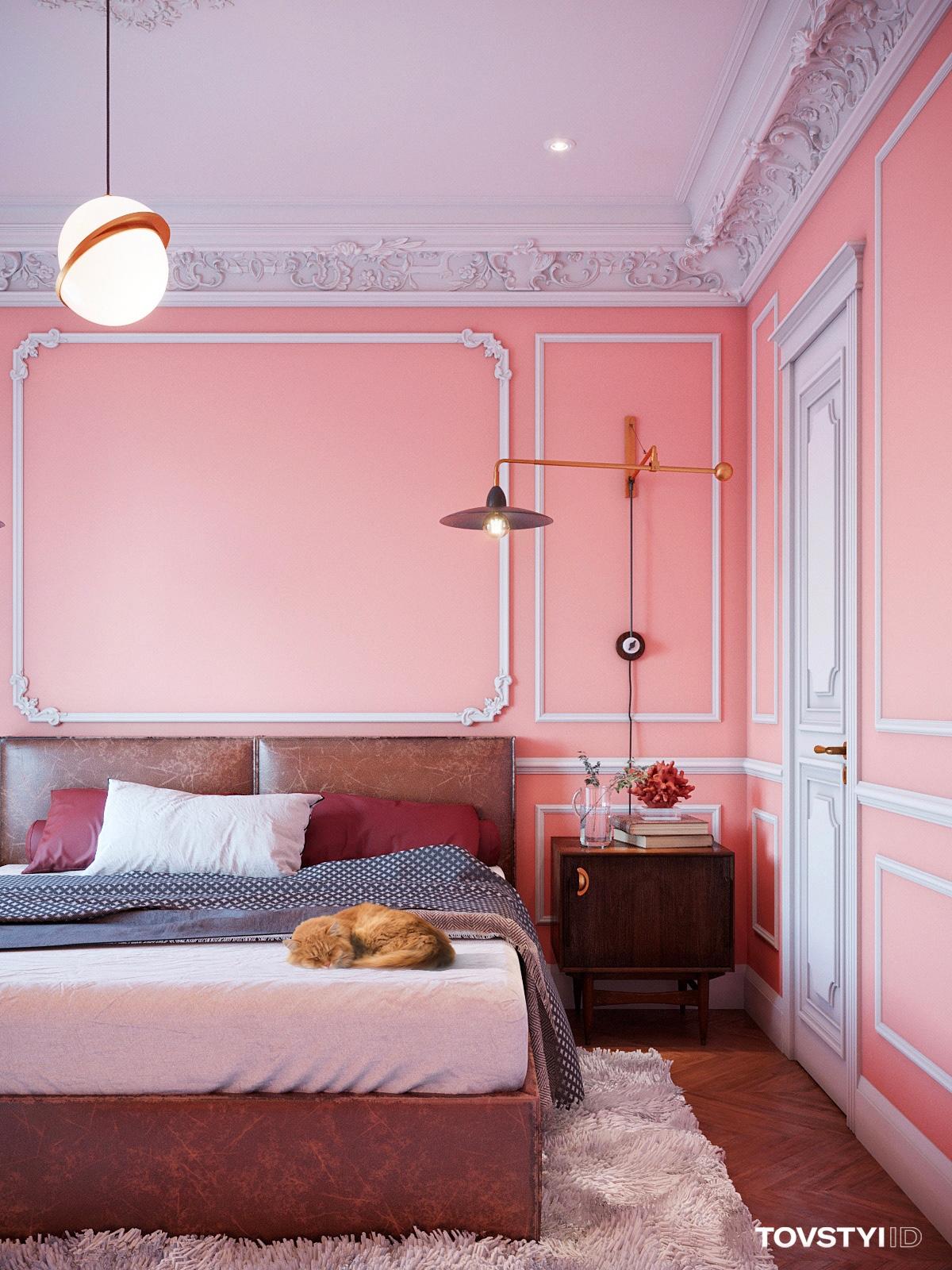 coral-pink-bedroom-idea