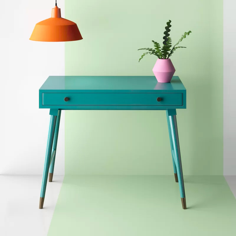 cute-teal-entryway-table-mid-century-modern-interior-design