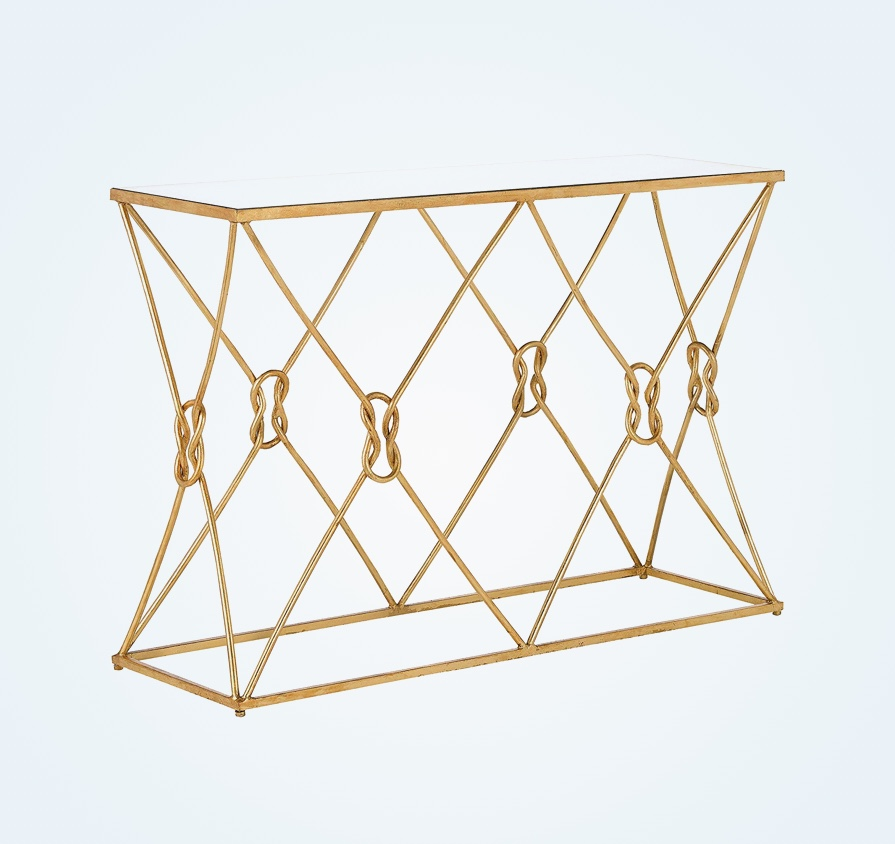 elegant-entryway-table-with-sculptural-base-in-gold-leaf-finish