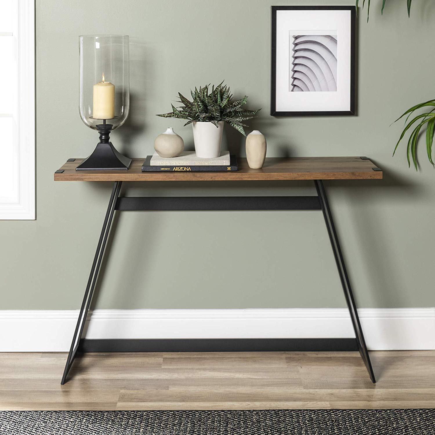 farmhouse-entryway-table-for-rustic-interior-themes