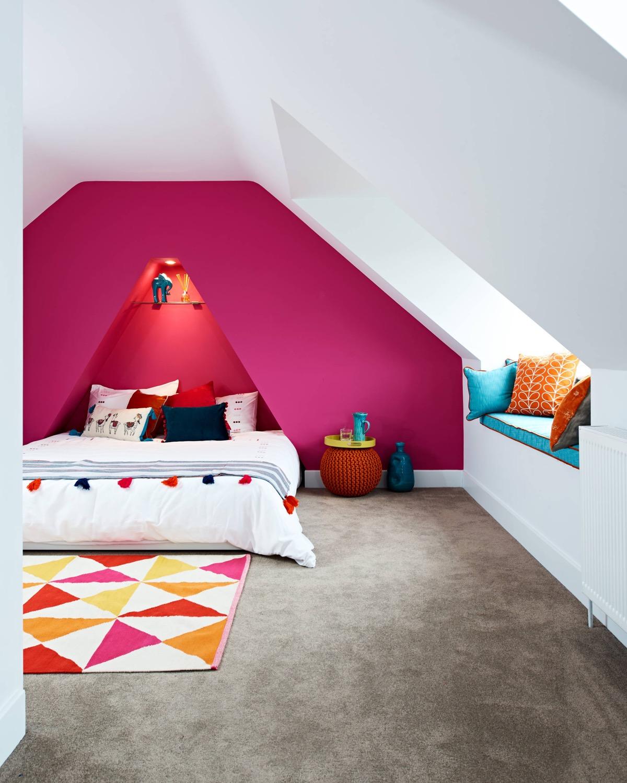 fuschia-pink-headboard-feature-wall