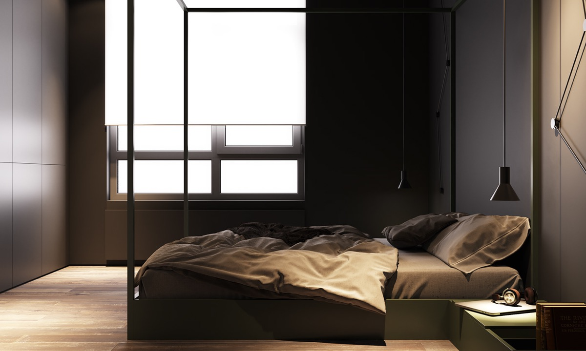 grey-and-green-bedroom