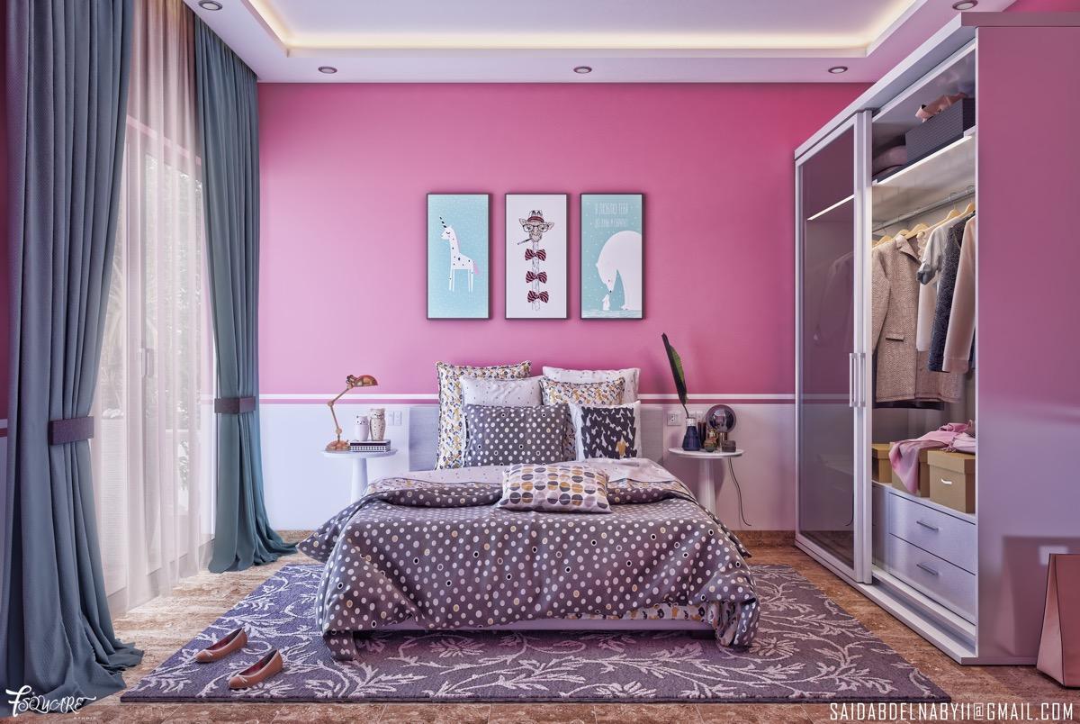 hot-pink-bedroom