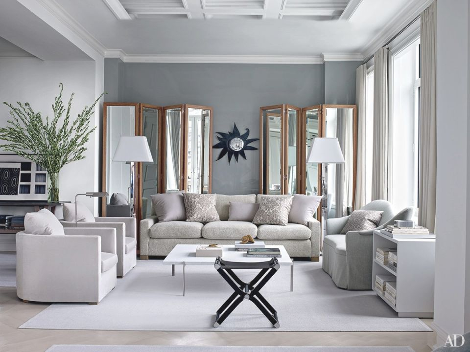 Inspiring Gray Living Room Ideas   Architectural Digest in Home Decorating Ideas Small Living Room