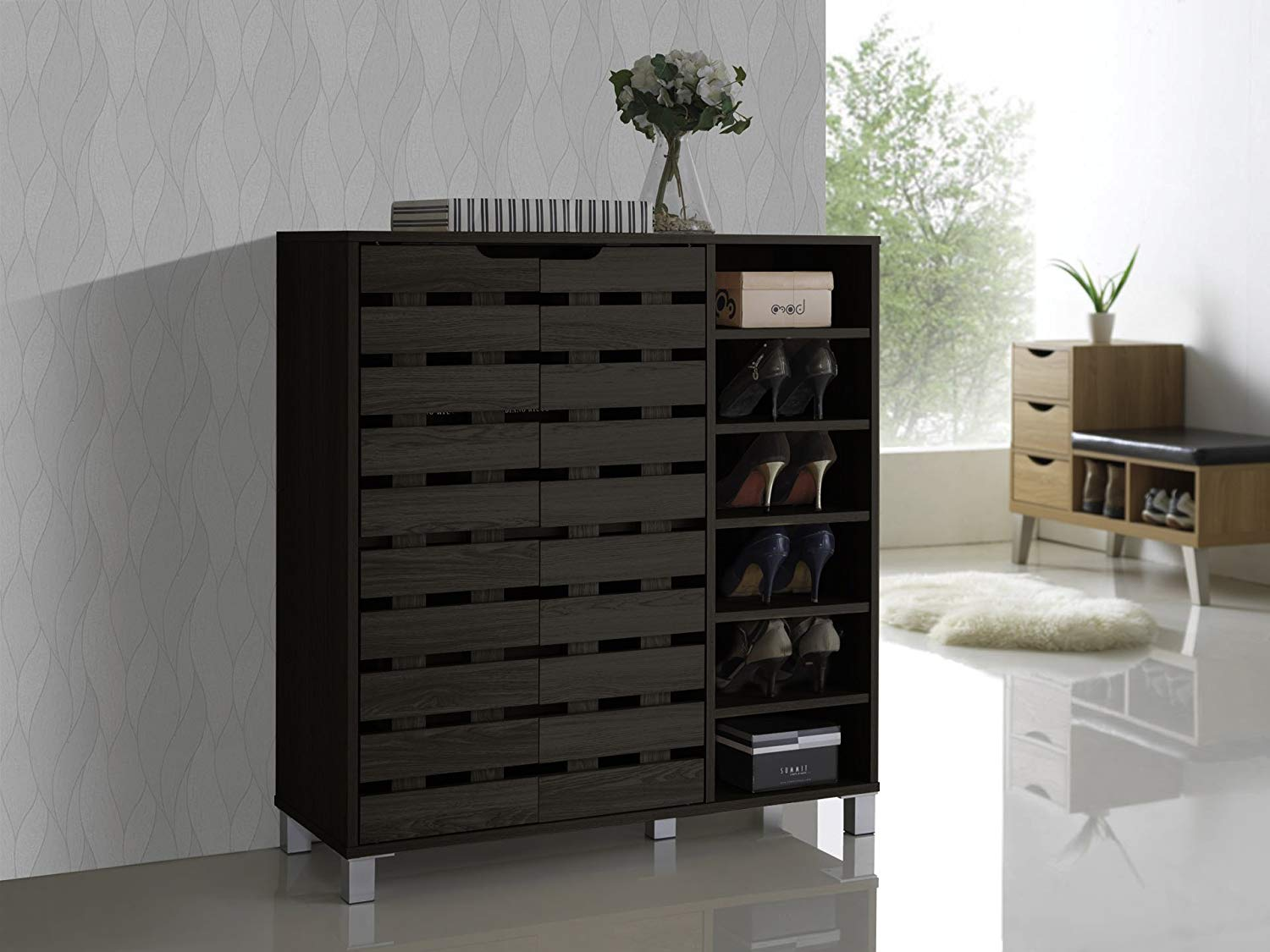 large-entryway-table-with-built-in-shoe-cabinet-and-open-shelves