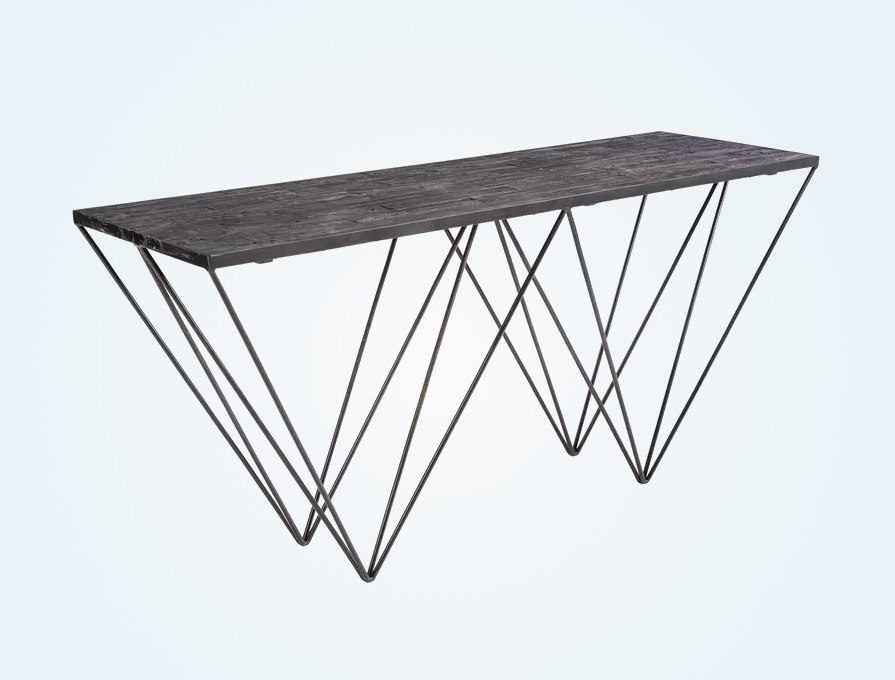 large-entryway-table-with-reclaimed-wood-top-and-geometric-metal-base